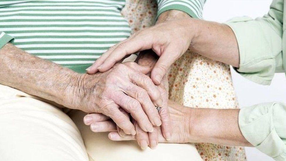Hands of an elderly person