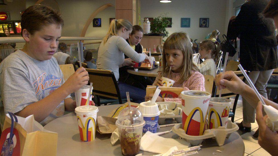 Children at McDonald's