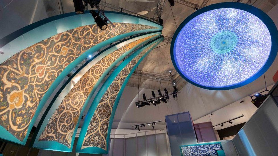 A view inside the Epic Iran exhibition