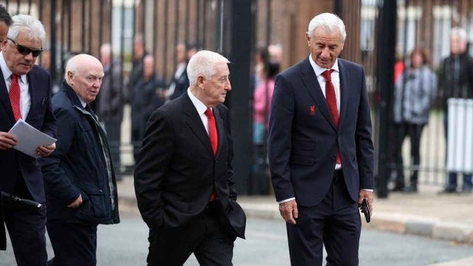 Former Liverpool players Ian Rush and Roy Evans