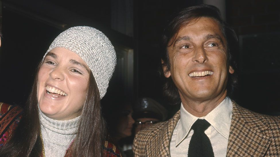 Robert Evans with Ali McGraw circa 1970