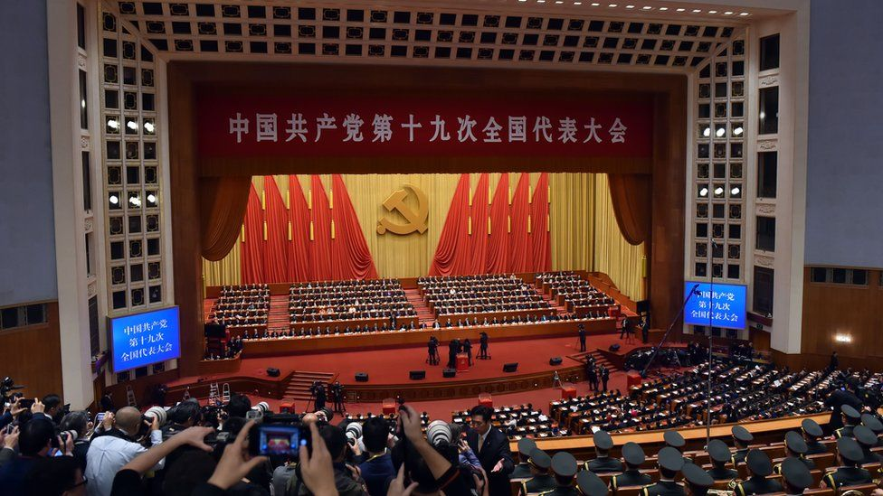 Delegates attend the Closing Ceremony of the 19th National Congress Of The Communist Party Of China