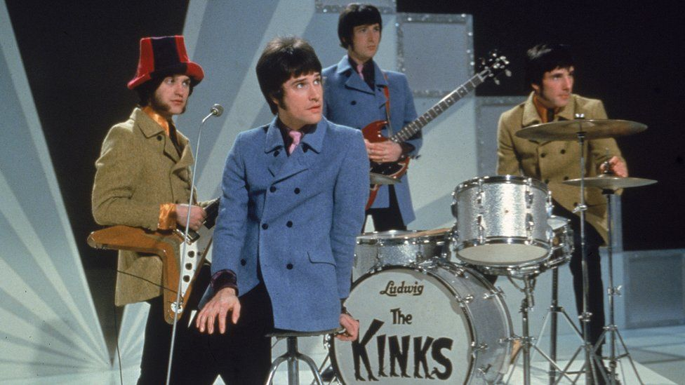 From left to right: Dave and Ray Davies, Peter Quaife and Mick Avory of The Kinks