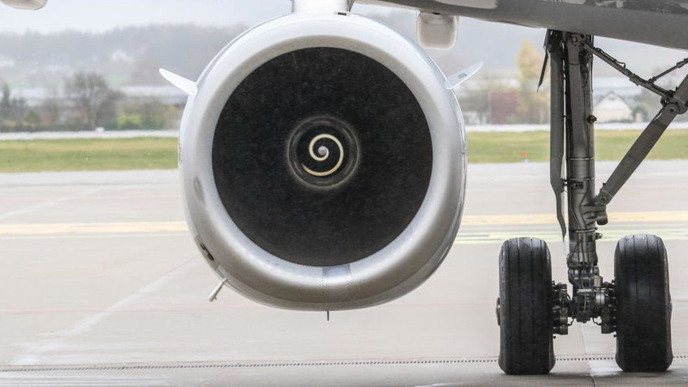 A plane engine - not the aircraft in question