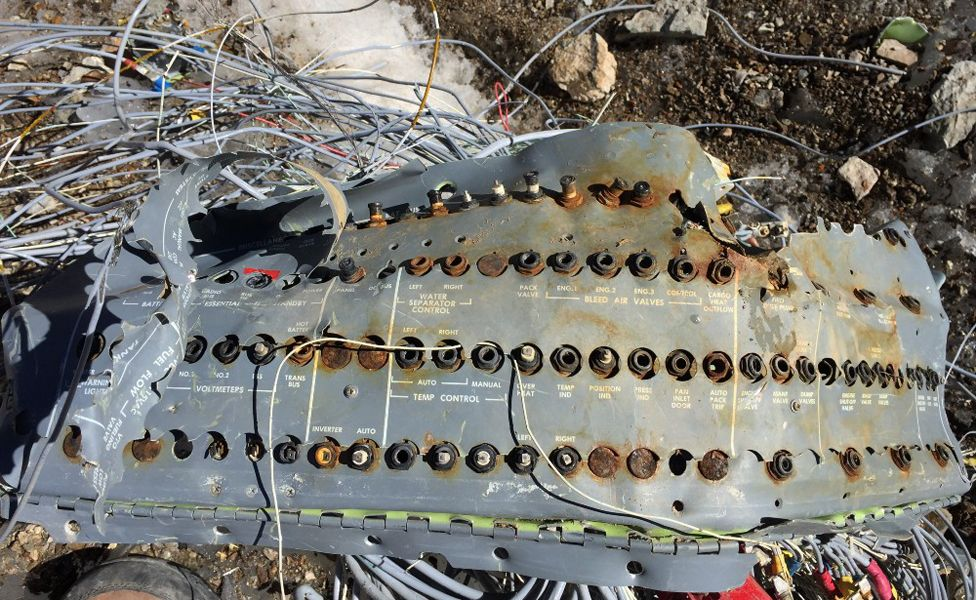 A temperature control board from Eastern Airlines flight 980