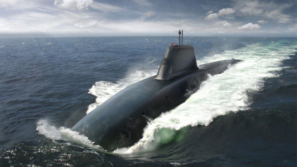 Artists impression of Trident replacement submarine