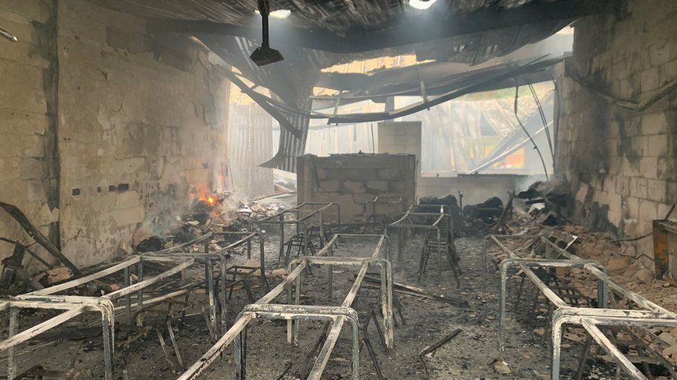 Classroom destroyed in fire