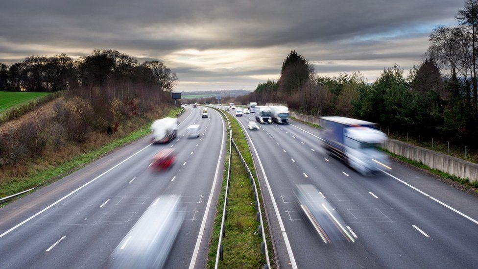 Traffic on M4 Cardiff
