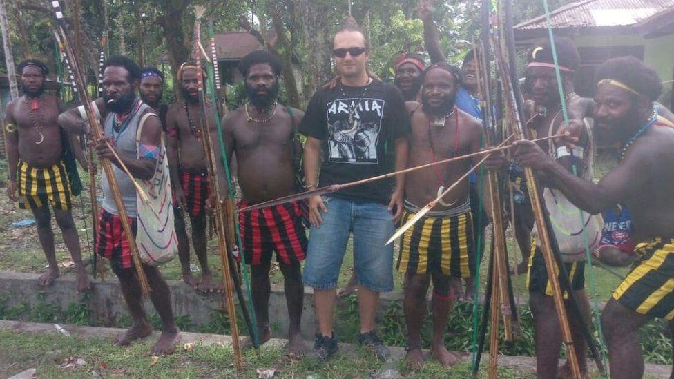 Skrzypski in Papua