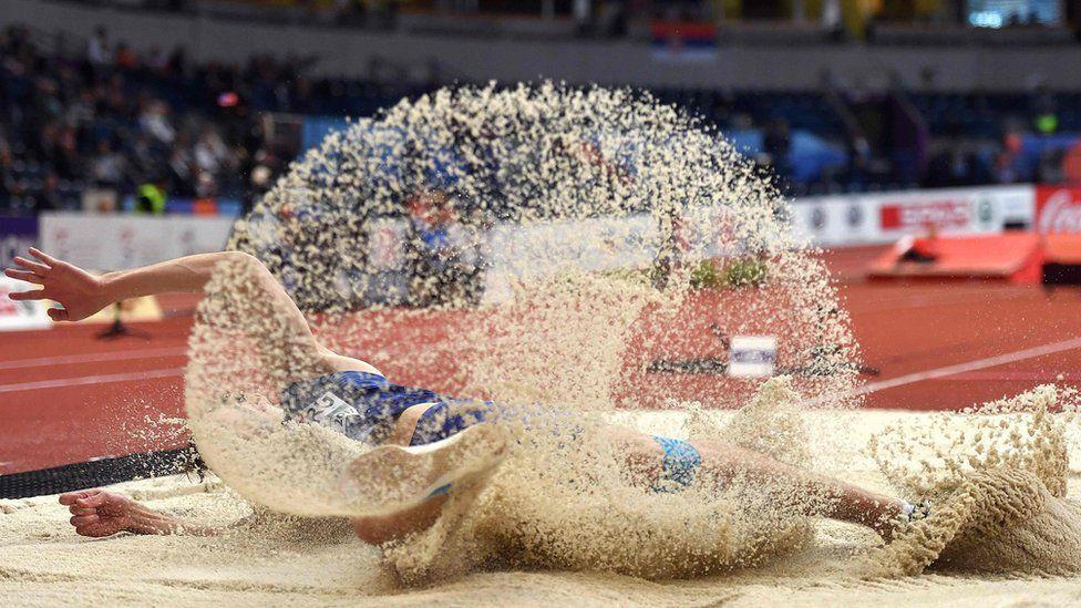 Estonia's Henrik Kutberg long jump