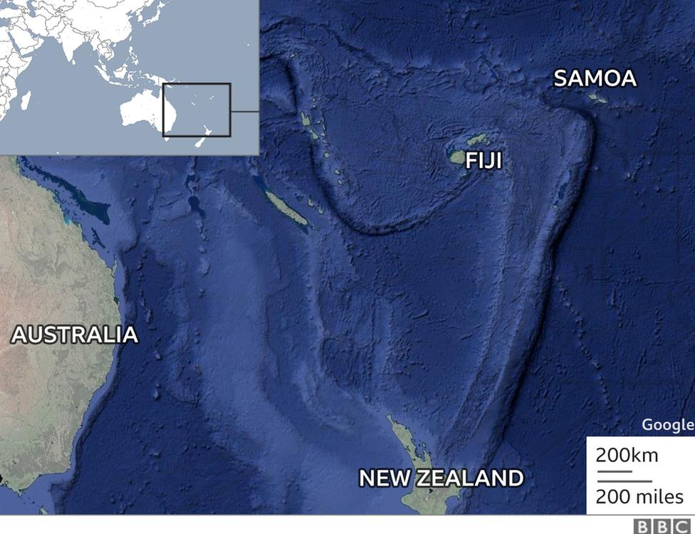 Map showing Samoa