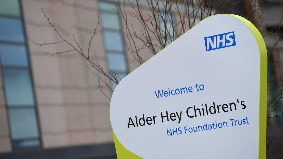 Sign at Alder Hey Children's hospital