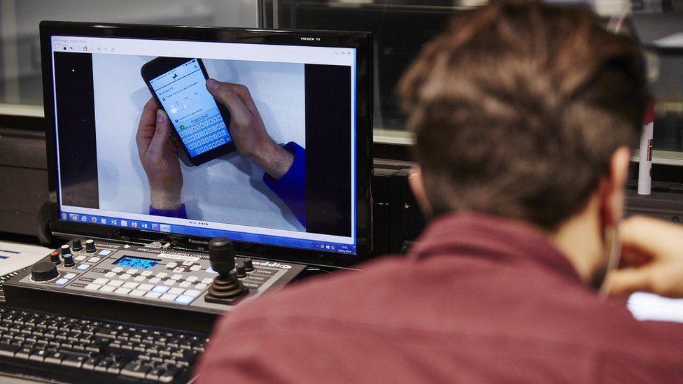 Computer screen in Lloyds digital office