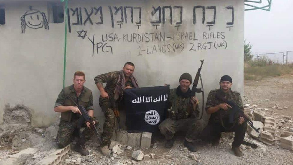 Joe Robinson during his time with the YPG