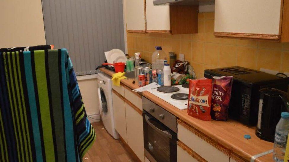 """Usman Khan""""s flat in Stafford, which was shown in court at the inquest into the terror attack at the Fishmongers"""" Hall in London"""