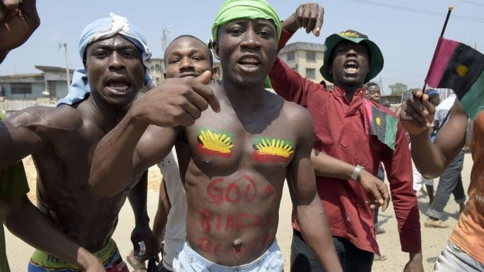 Pro-Biafra supporters in Nigeria - November 2015
