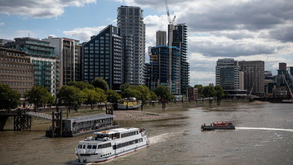 High-rise apartments in Victoria, London