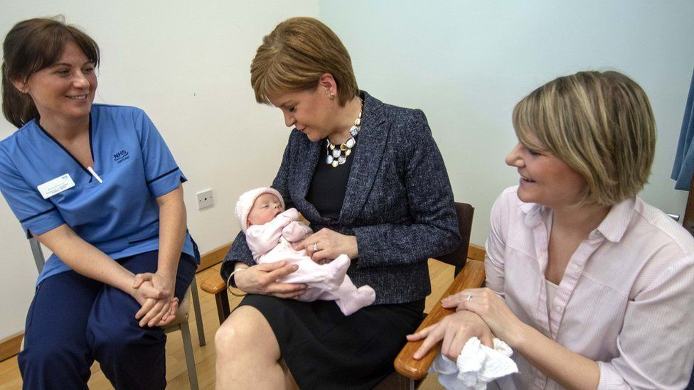 Nicola Sturgeon at St John's Hospital in Livingston