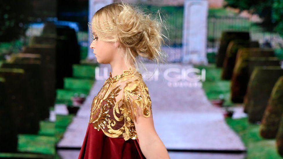 Daisy walking at New York Fashion Week