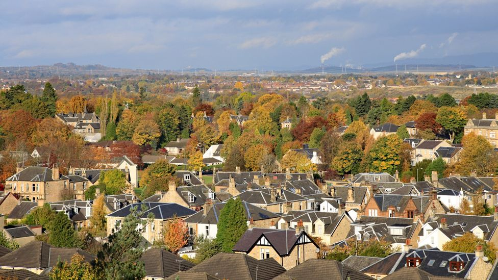 View from Falkirk towards Stirling