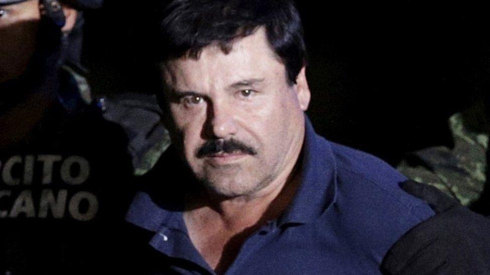 """Joaquin """"El Chapo"""" Guzman shortly after his recapture"""