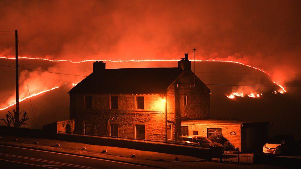 fire at Marsden Moor