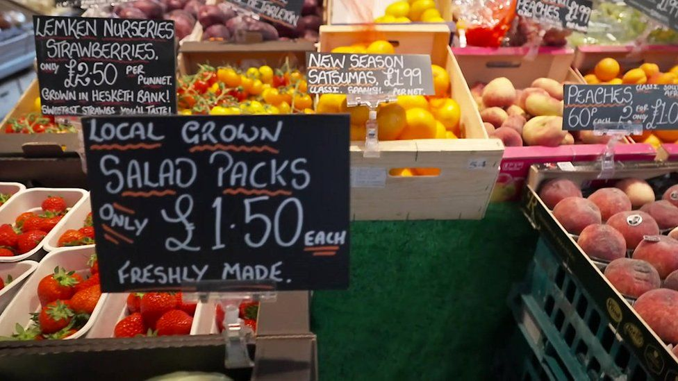 fruit for sale in Preston market