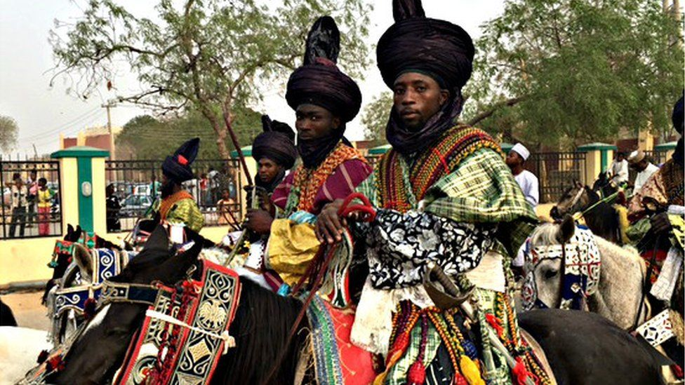 A group of horsemen accompanying a royal wedding