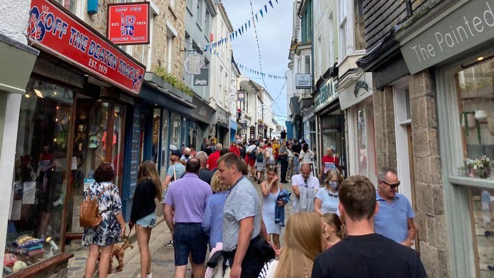 Crowd in St Ives