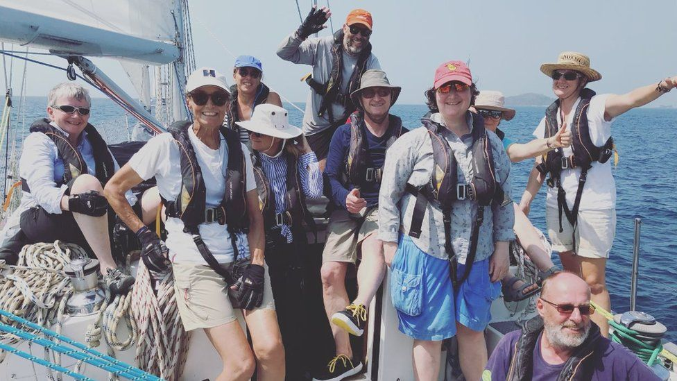 Rubicon 3 Adventure Sailing crew in the Galapagos Islands