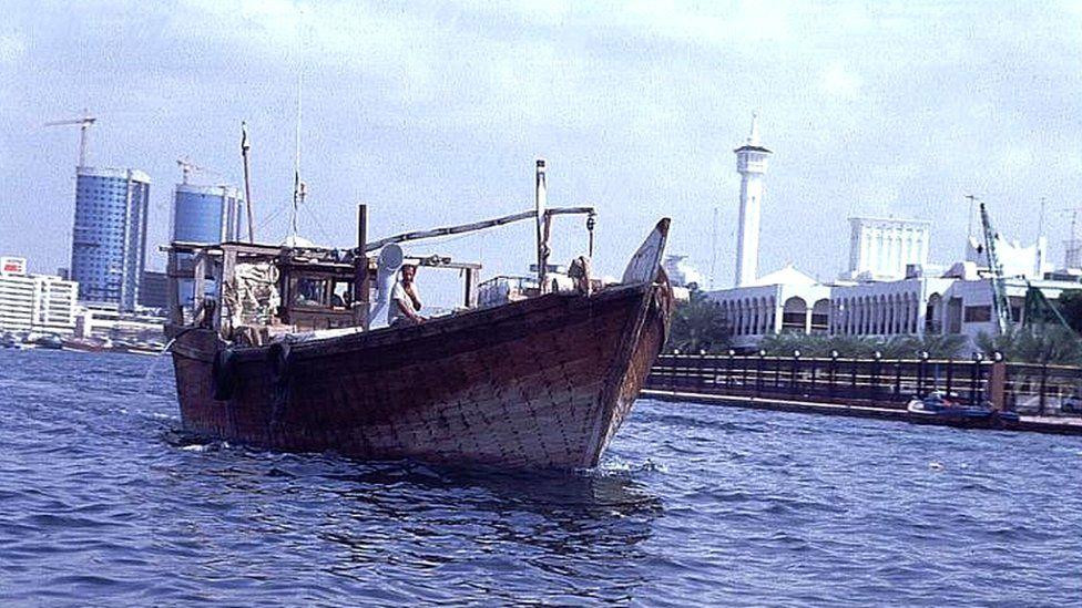 A dhow sailing in Dubai