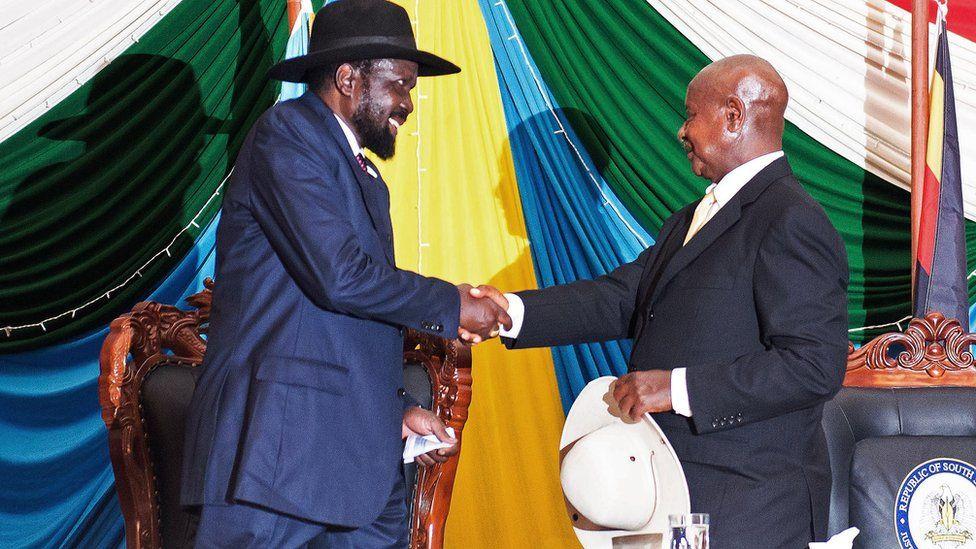 Uganda's President Yoweri Museveni and South Sudane's President Salva Kiir