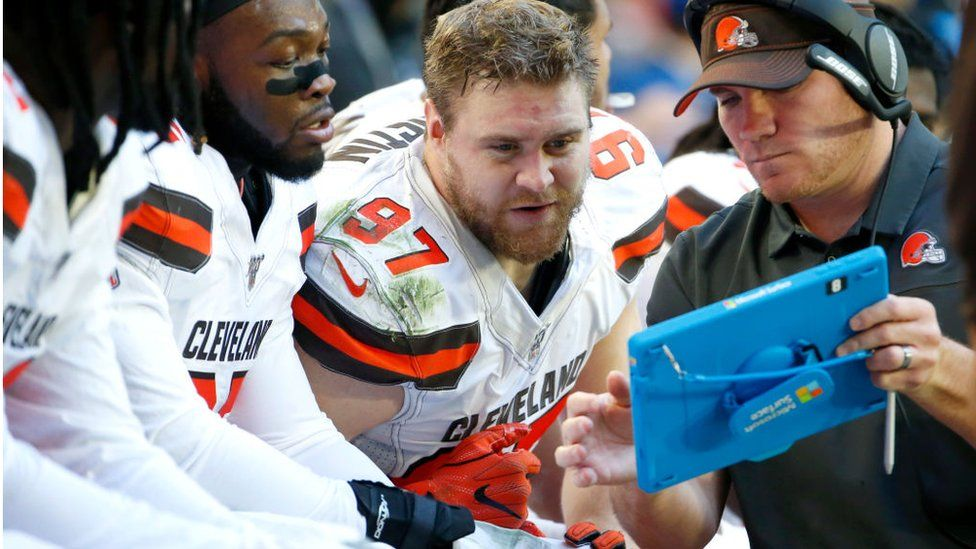 Microsoft Surface Pro used in American football