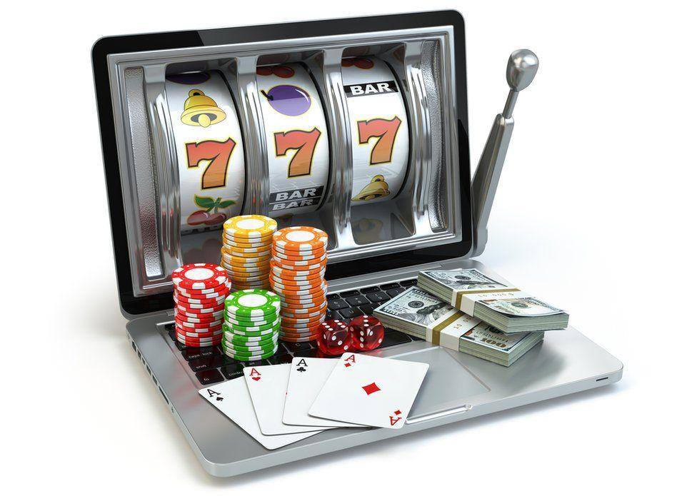 fruit machine + gambling chips