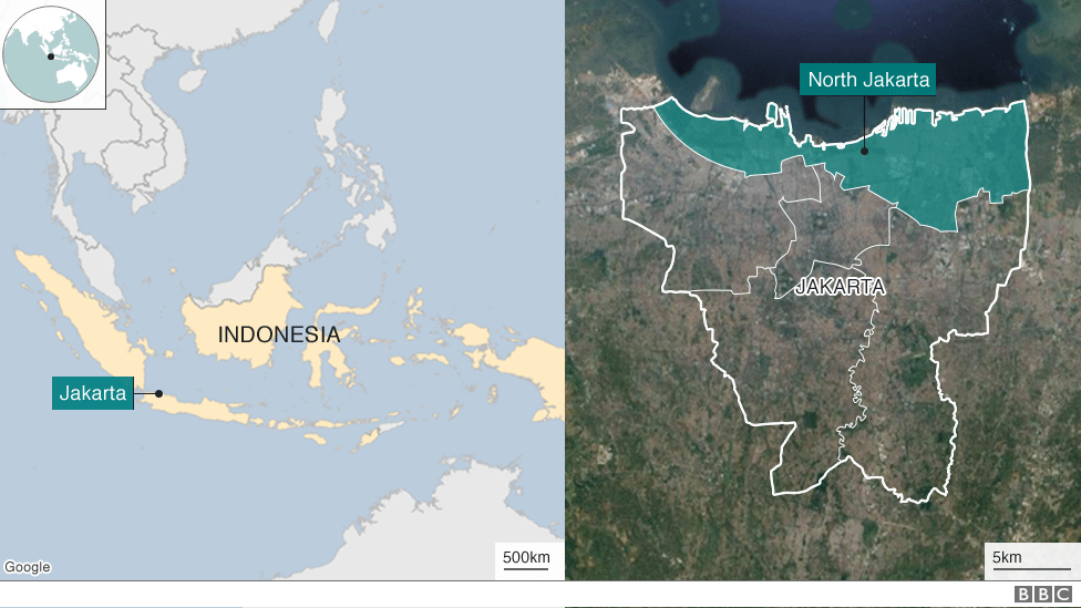 Map of Indonesia and Jakarta