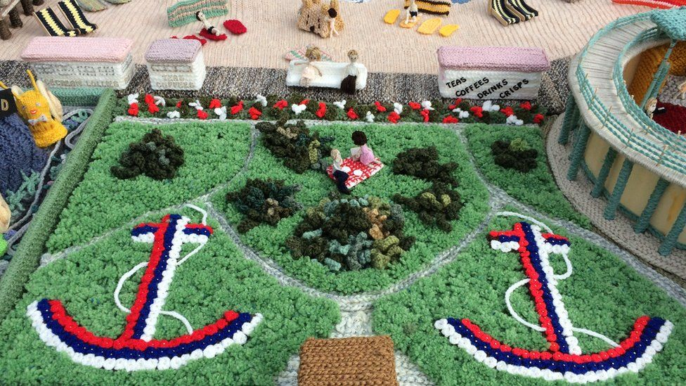 Knitted Anchor Gardens, Great Yarmouth