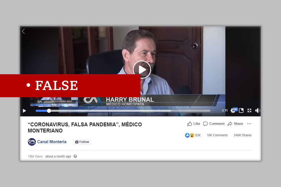 "Colombian video makes false claims that coronavirus is ""fake"""