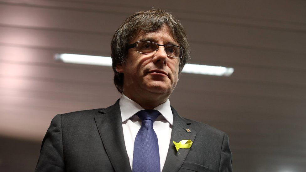 Ousted Catalan leader Carles Puigdemont pictured in December