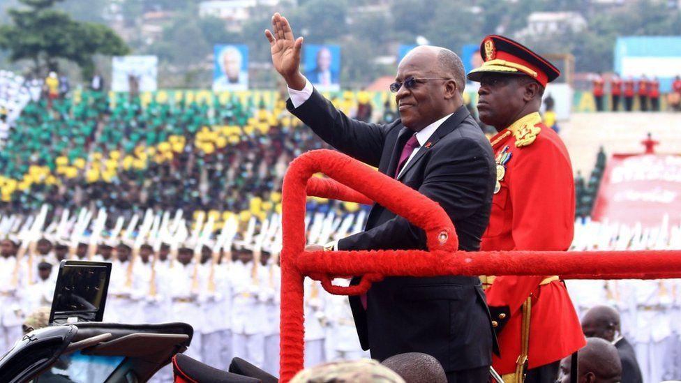 President Magufuli in December 2019 - he has been criticised for not releasing data on coronavirus