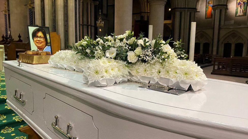 Estrella Catalan's funeral
