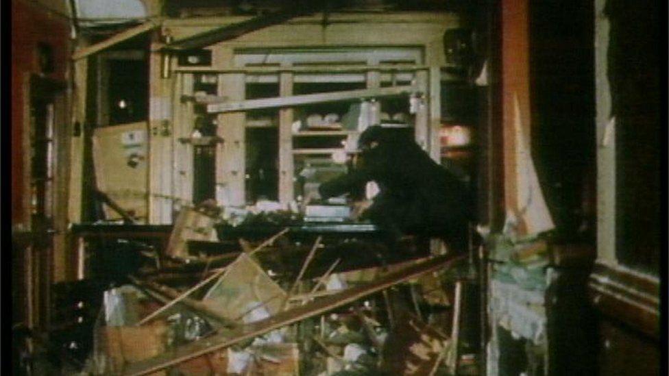 Seven Stars pub wreckage