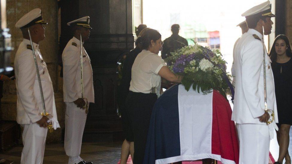 Memorial ceremony for Antonio Imbert Barrera, Santo Domingo cathedral, 31 May 2016