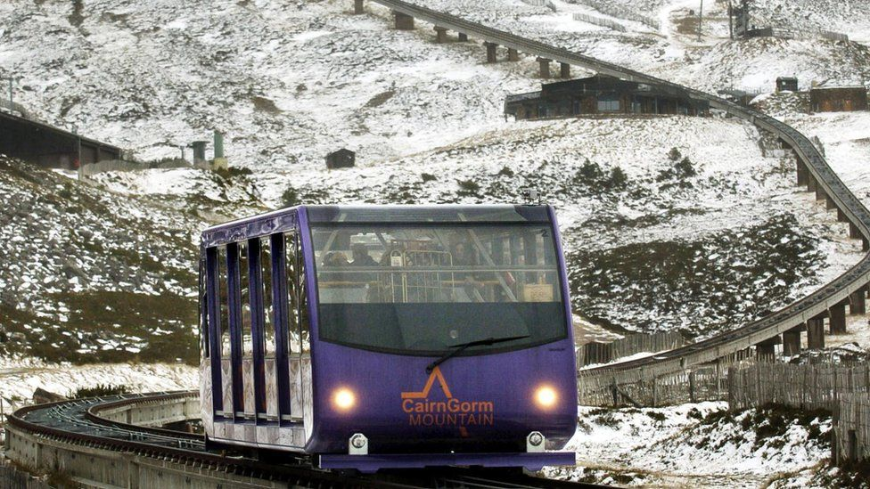 funicular railway in the Cairngorm ski area