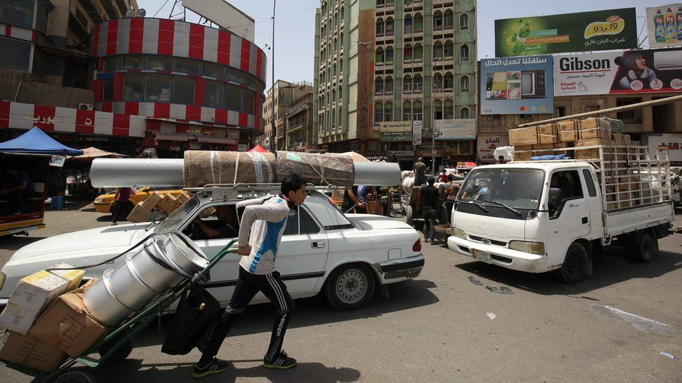 Street in Baghdad, Iraq (4 May 2020)
