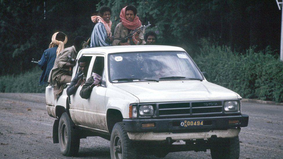 EPRDF rebels in Addis Ababa in 1991