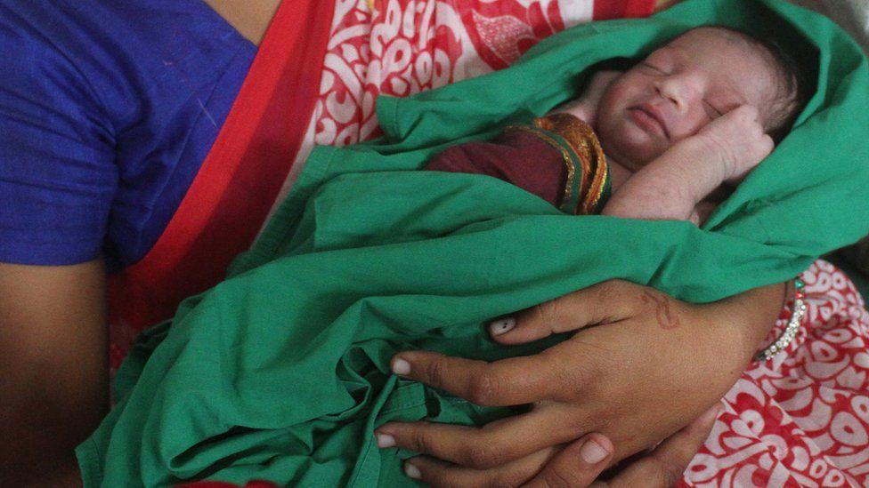 Nisha Khalse with her baby girl