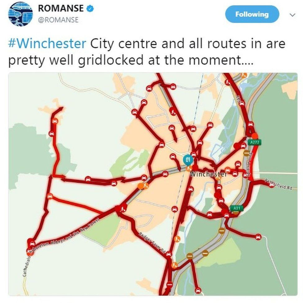 Map of traffic problems