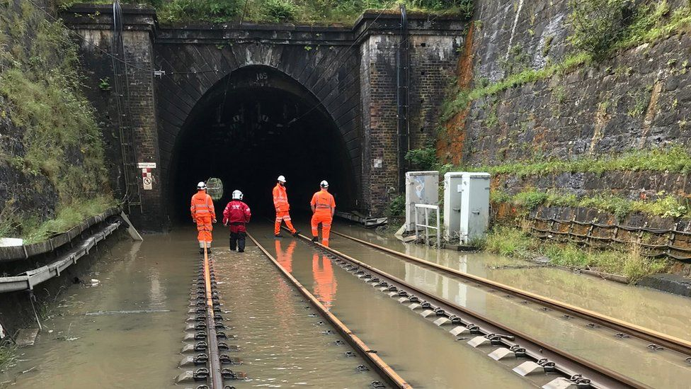 ScotRail engineers have been working to pump water from Winchburgh tunnel