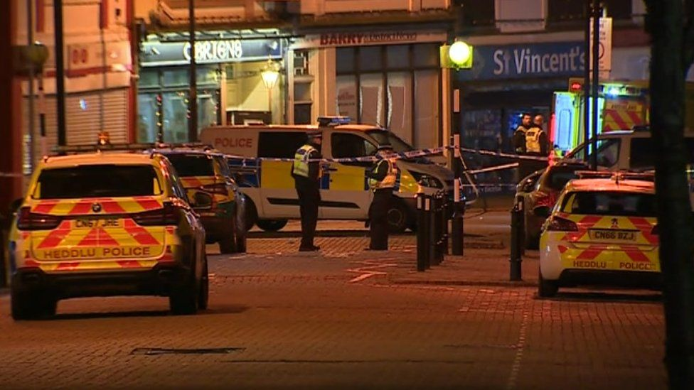 Murder investigation in Barry, Wales