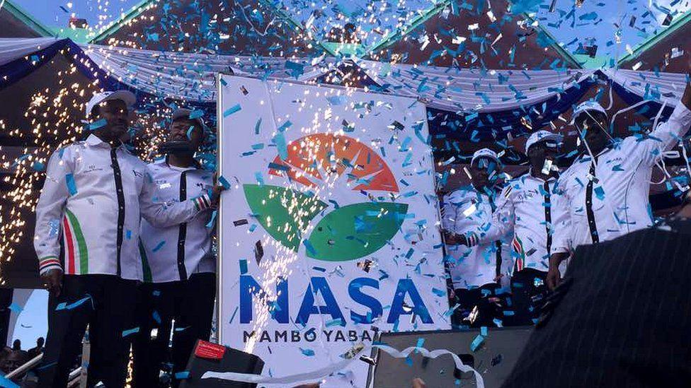 Nasa leaders at the lrally